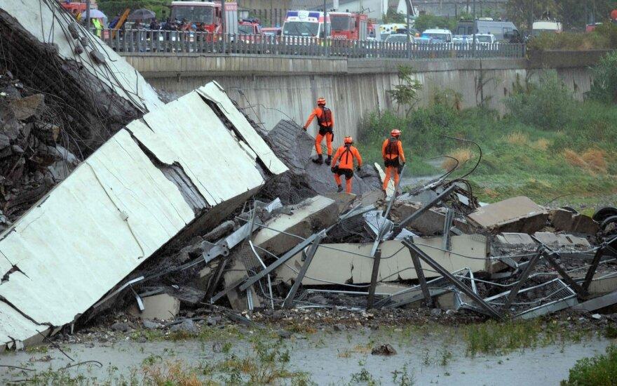В Генуе почтили память погибших при обрушении моста