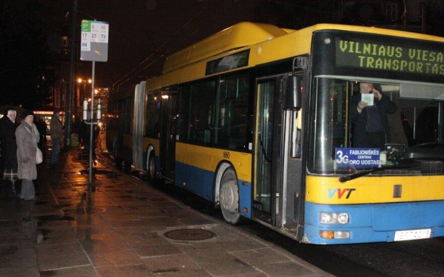 В Вильнюсе будут курсировать ночные автобусы