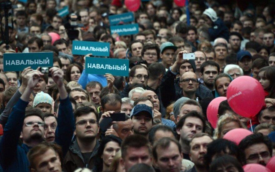 Полиция отпустила рабочих сцены после митинга Навального