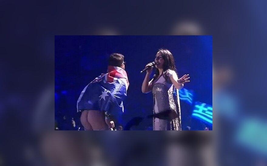 """ВИДЕО: Кто и зачем показал свой голый зад на """"Евровидении"""""""
