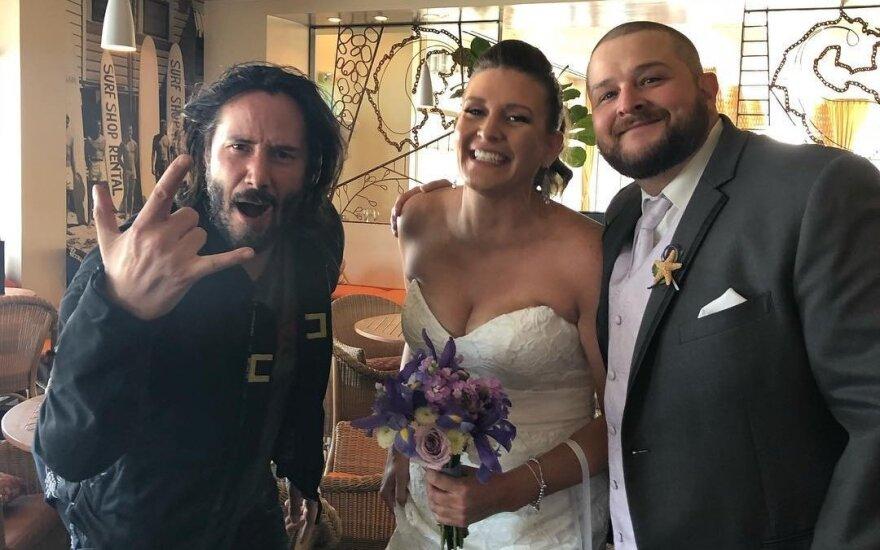 Киану Ривз на свадьбе