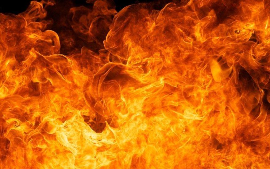 Ночью в Вильнюсском районе горели конюшни конно-спортивного клуба