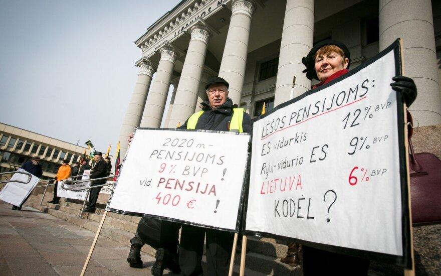 В Вильнюсе состоялся митинг против жизни на 150 евро