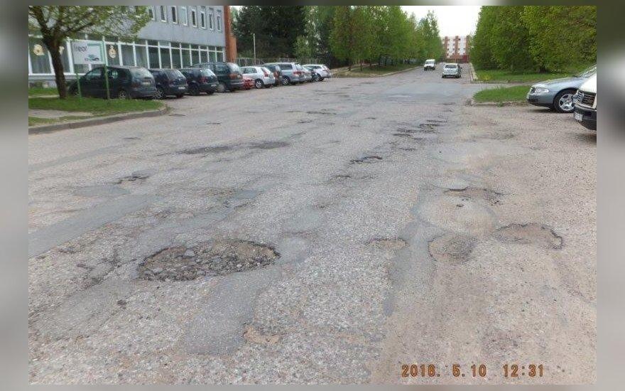 Вильнюсцы обеспокоены состоянием улицы