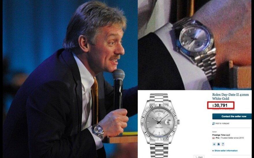 D. Peskovo laikrodžiai, navalny.com nuotr.