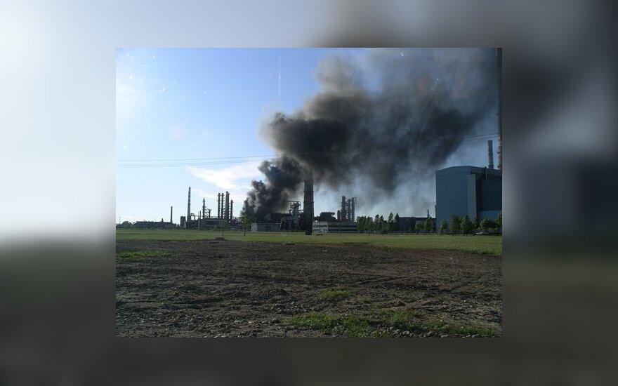Пожар на Mažeikių naftа