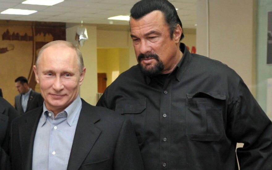Vladimiras Putinas ir Stevenas Seagalas