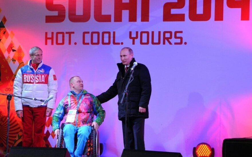 Krymo pašonėje – Sočio parolimpinių žaidynių atidarymo ceremonija