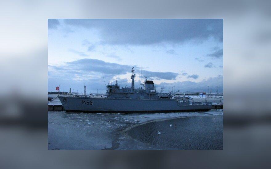 В Клайпеду пришел первый купленный у Великобритании военный корабль