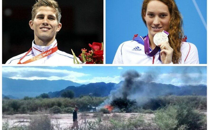 Per realybės šou susidūrus sraigtasparniams žuvo du olimpiniai čempionai Alexis Vastine, Camille Muffat