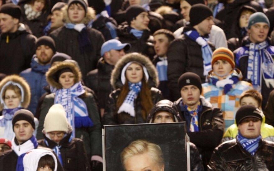 """""""Zenit"""" fanai pagerbia Marinos Malafejevos atminimą"""