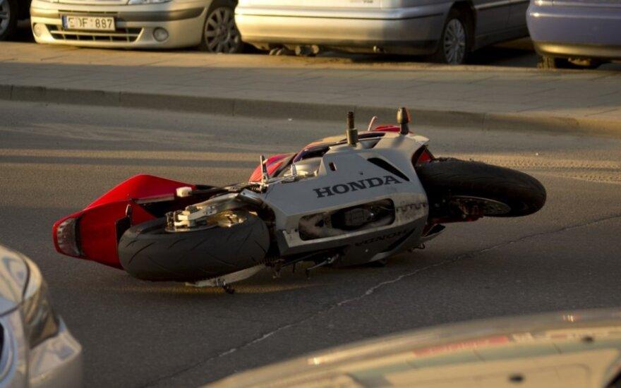 В Вильнюсе мотоцикл сбил девочку