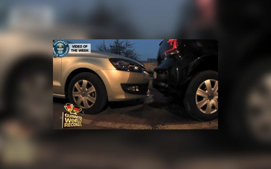 Появилось видео парковки автомобиля из книги рекордов Гиннеса