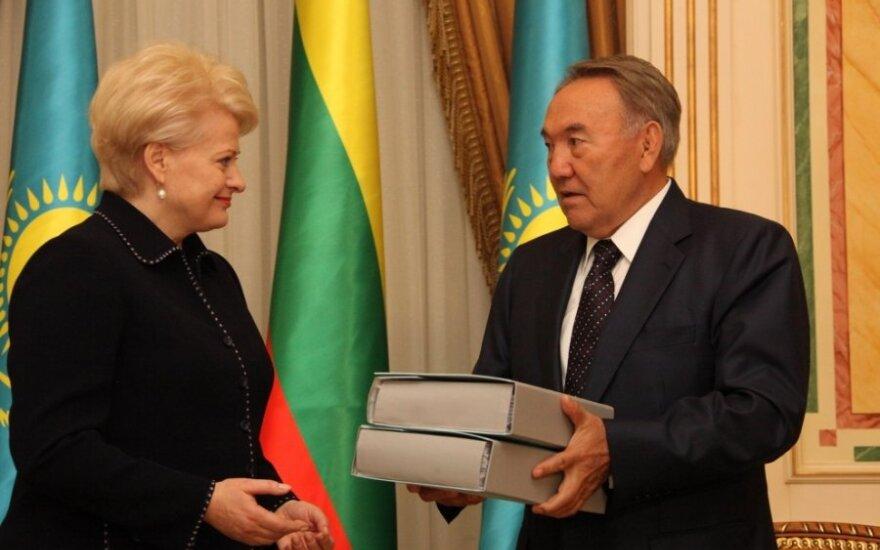 Dalia Grybauskaitė susitiko su Kazachstano prezidentu Nursultanu Nazarbajevu