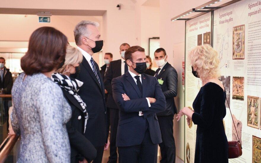 Макрон в Литве встретится с академической общиной и французскими военными
