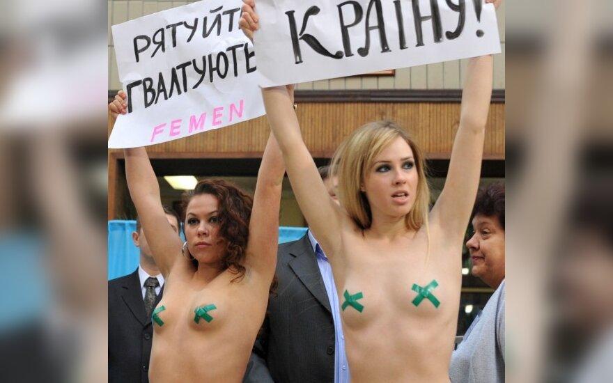 Aктивистки женского движения FEMEN