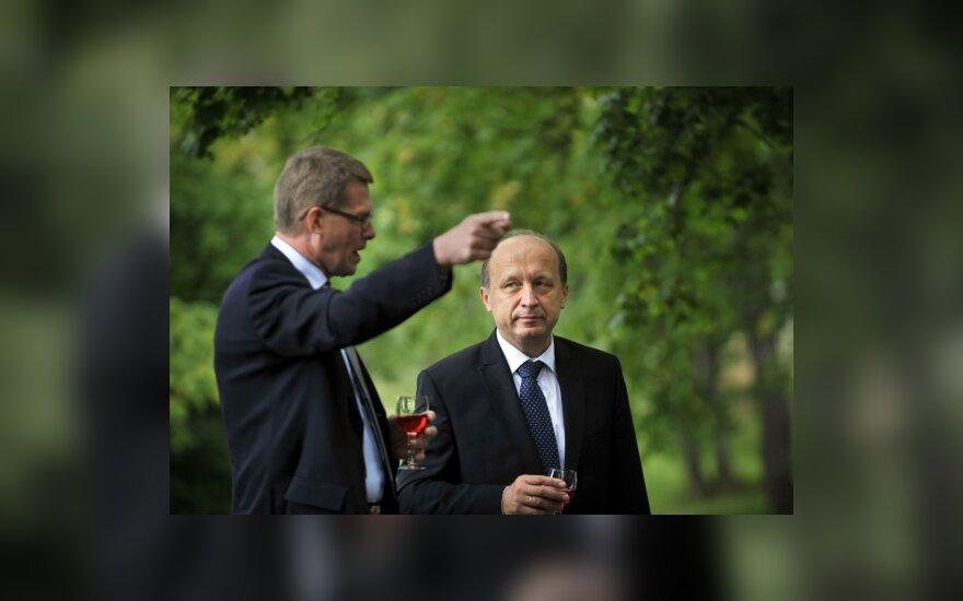 Suomijos premjeras Matti Vanhanen ir  Andrius Kubilius