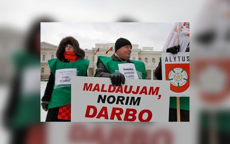 У президентского дворца протестовали врачи и представители работников Alita