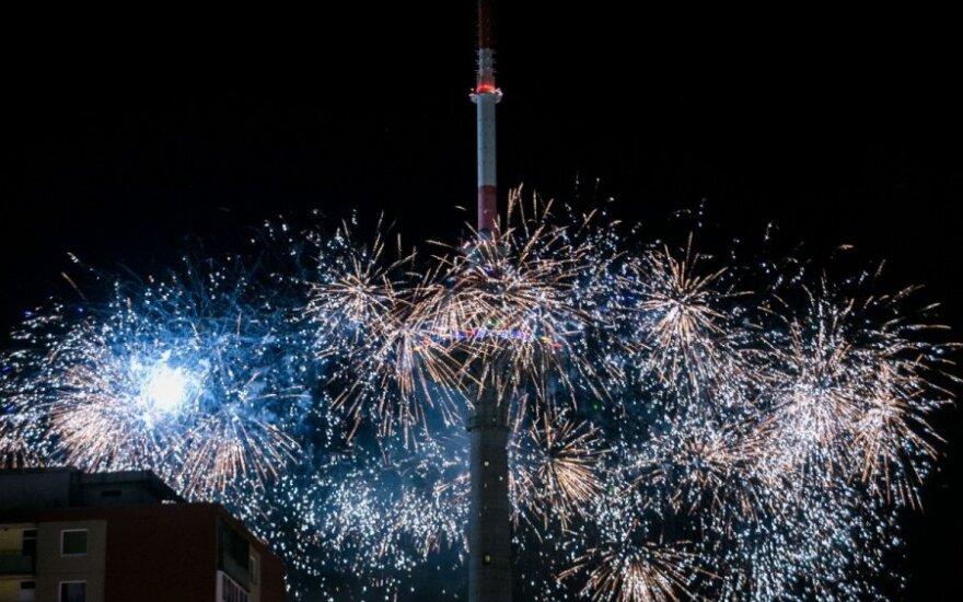 """Зажглись огни на самой высокой """"елке"""" Литвы"""