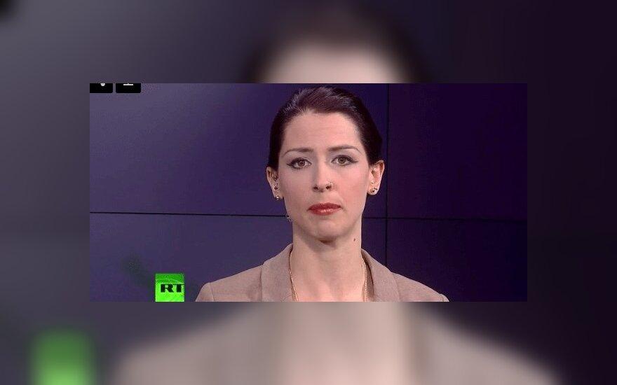 Ведущая RT в прямом эфире осудила действия России на Украине