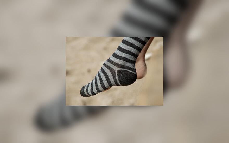 Kojinė, pėdos
