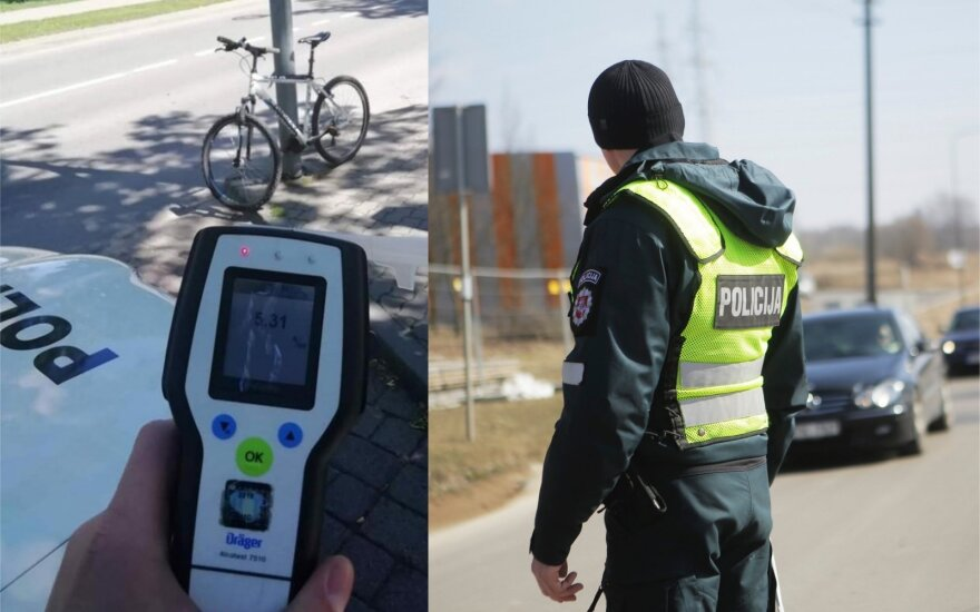 В Паланге был остановлен мертвецки пьяный велосипедист