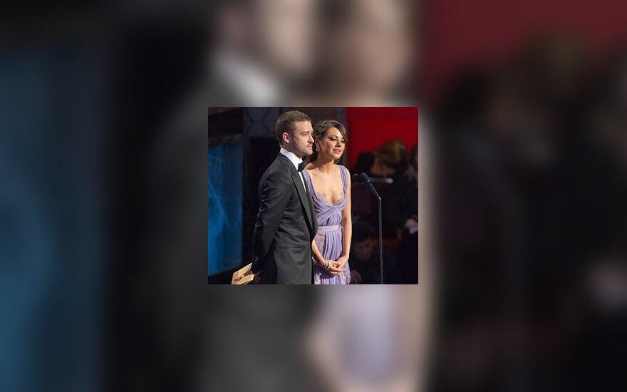 Джастин Тимберлейк и Мила Кунис. Фото: oscars.org