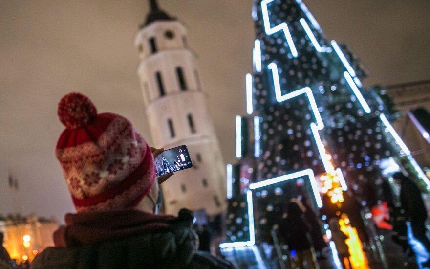 В столице Литвы зажгли огни на главной рождественской елке