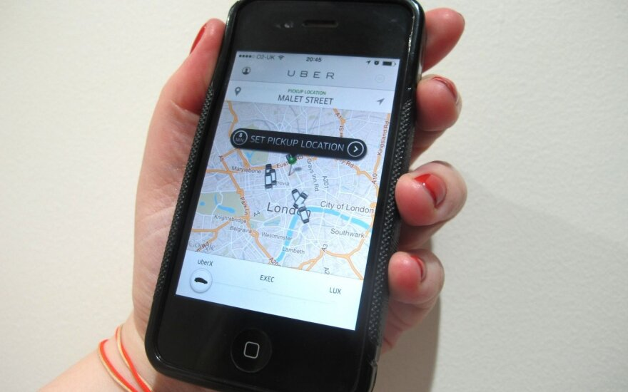 Компания Uber начинает работать в Вильнюсе