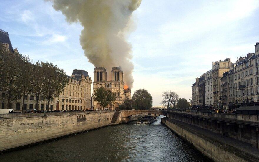 Paryžiaus Švč. Dievo Motinos katedroje kilo gaisras