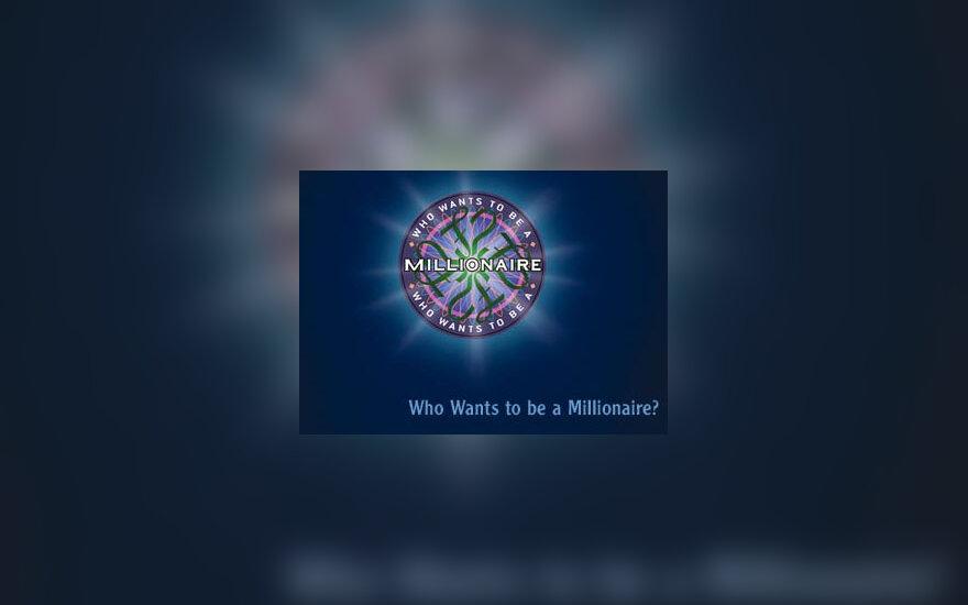 """""""Kas nori tapti milijonieriumi"""" logo"""