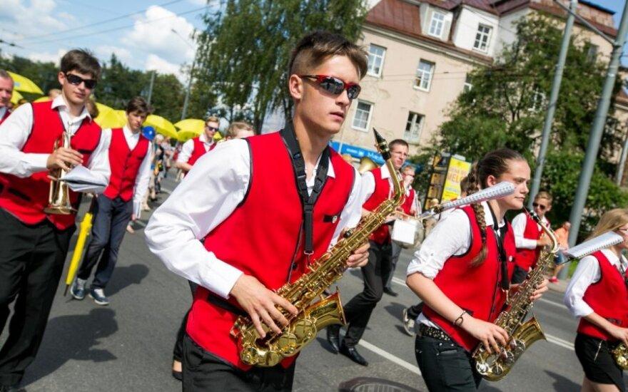 В Вильнюсе состоялось шествие участников Праздника песни
