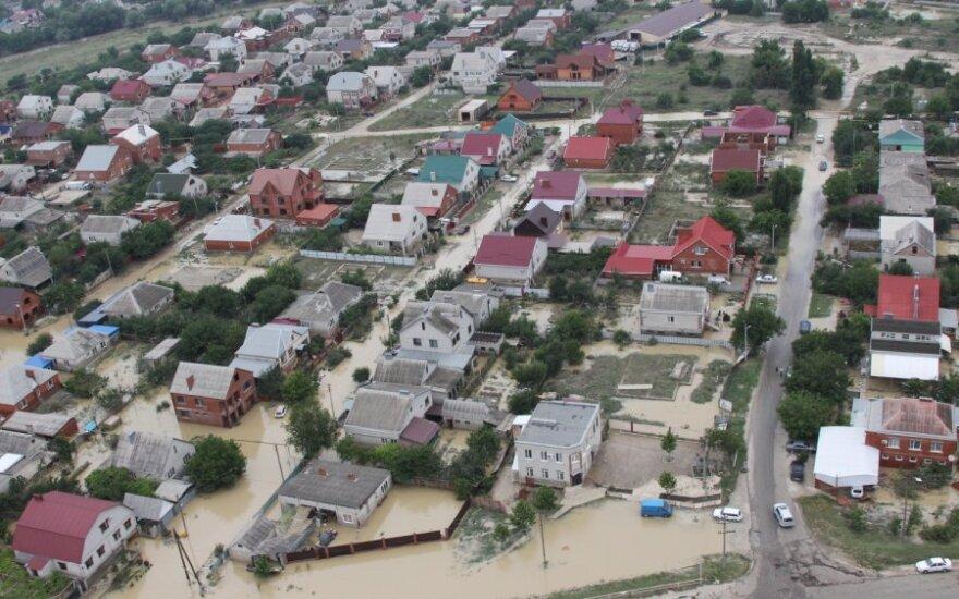 Potvynis Rusijos Krasnoraro krašte