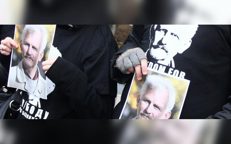 В Вильнюсе прошла акция солидарности с Алесем Беляцким