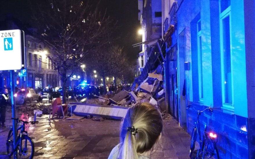 Sprogimas Antverpene sugriovė gyvenamą namą