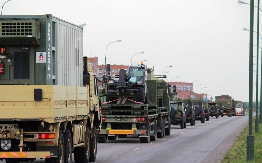 В Клайпеду прибыла военная техника из Бельгии и Люксембурга