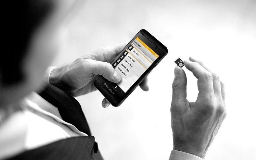 """SecuSuite"" kortelė ""BlackBerry 10"" sistemos telefonams"