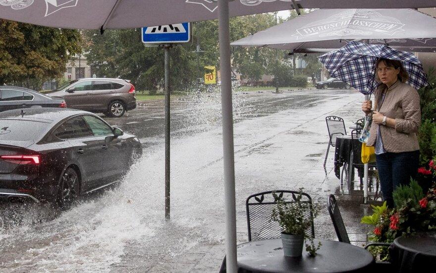 В Литве снова идут ливневые дожди