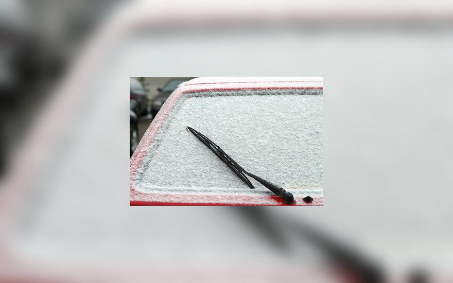 Apsnigtas automobilio langas