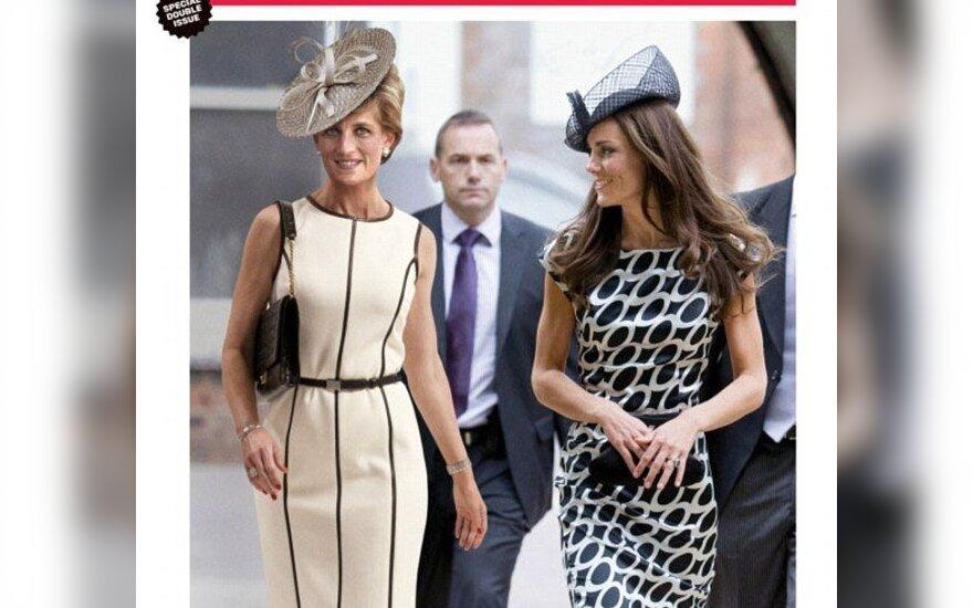 Newsweek viršelis.  Princesė Diana ir Kate Middleton