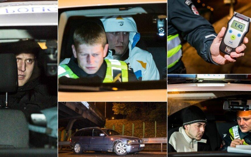 В Вильнюсе задержали 6 нетрезвых водителей