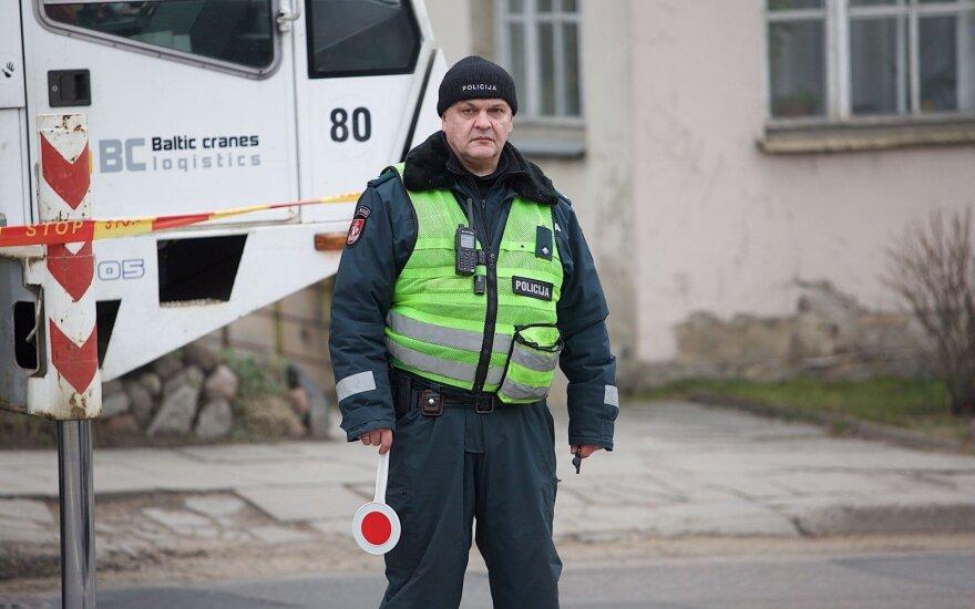 В Вильнюсе движение нарушил отцепившийся от тягача полуприцеп