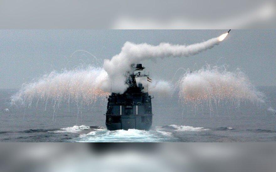 ВИДЕО: Российские корабли нанесли ракетные удары по территории Сирии