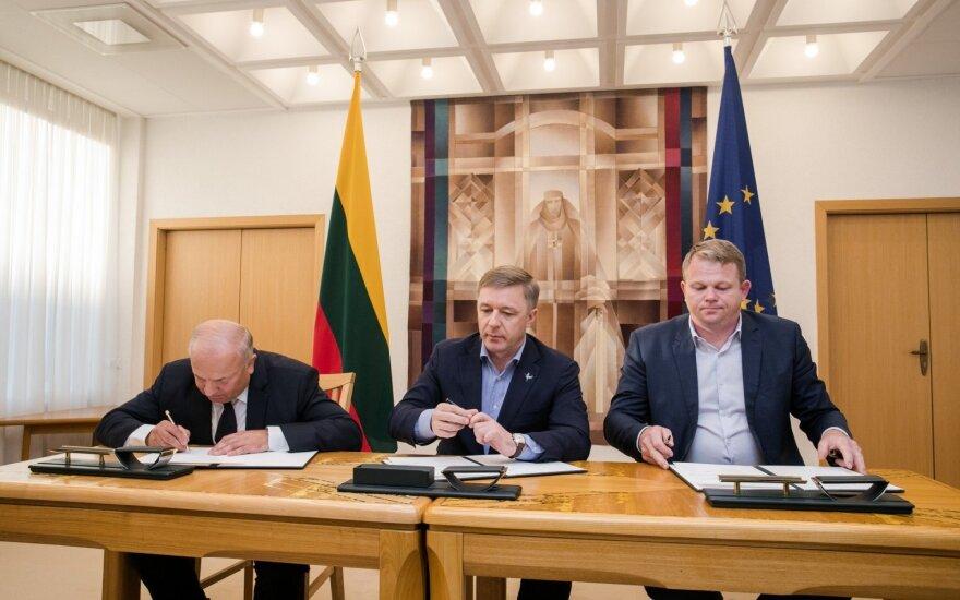 Vytautas Kamblevičius, Ramūnas Karbauskis, Andrius Palionis