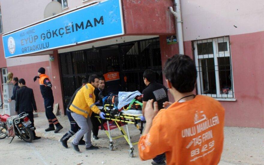 В турецком городе близ границы с Сирией снаряд попал в школу