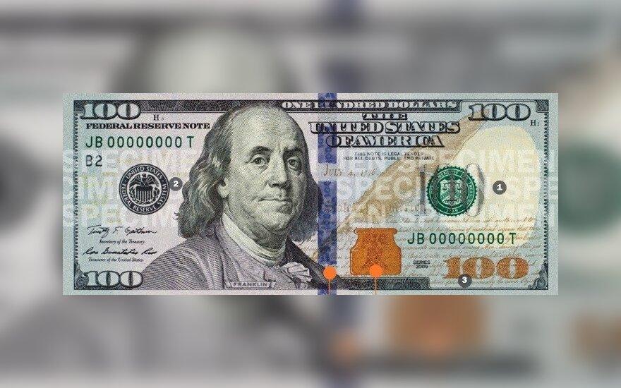 Naujas 100 dolerių banknotas