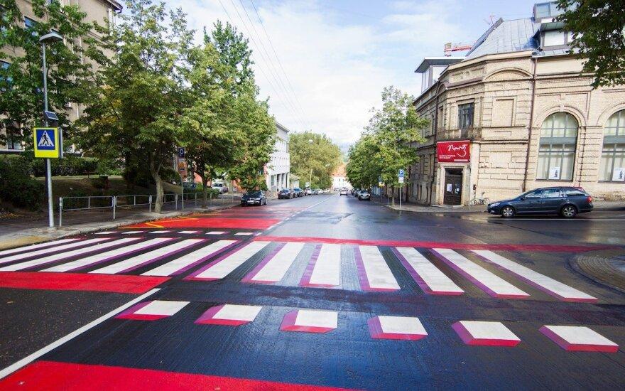 В Вильнюсе - необычный пешеходный переход