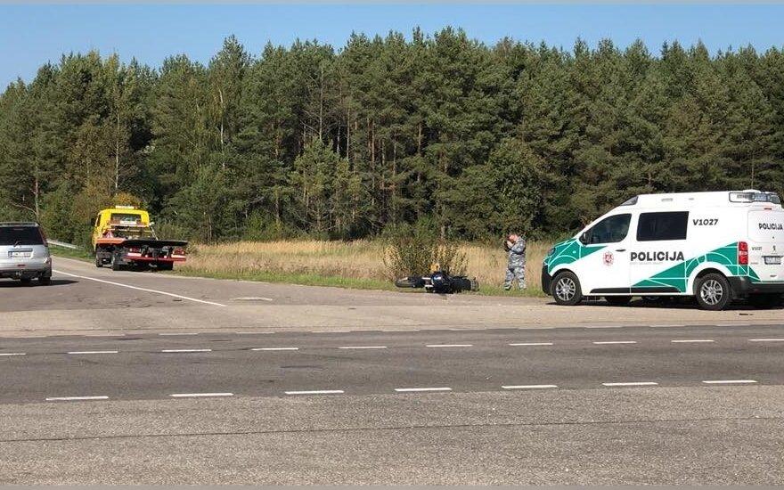 В Вильнюсском районе в ДТП погиб мотоциклист
