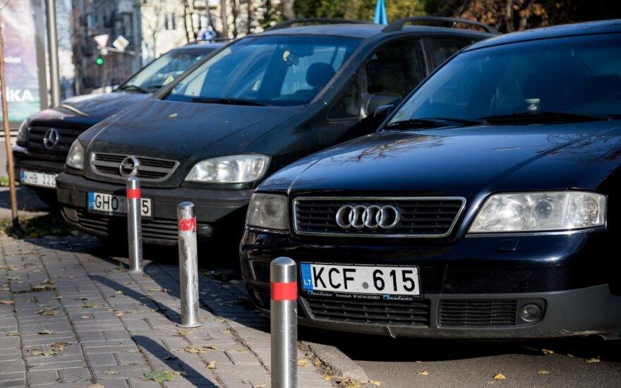 Protesto akcija Kijeve dėl muito automobiliams
