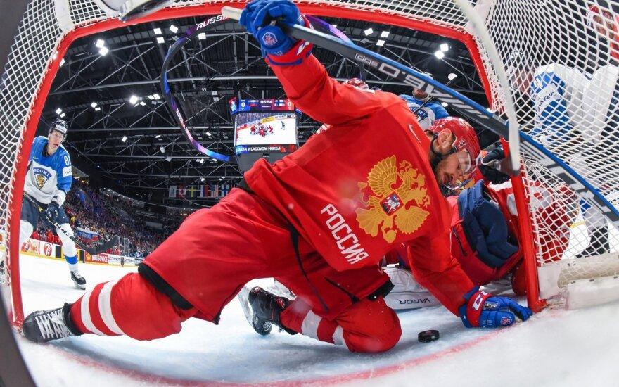 Pasaulio ledo ritulio čempionatas: Rusija - Suomija